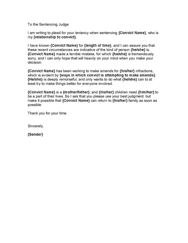 Letter For Court: Personal Character Reference Letter, Character ...
