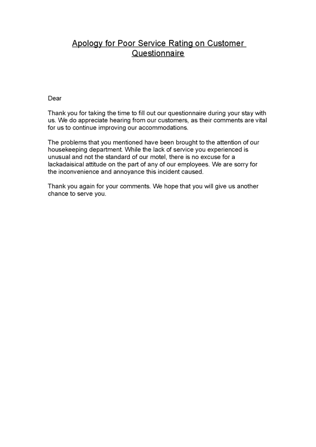 Customer Service Apology Letter Sample Pictures to Pin on – Examples of Apology Letters to Customers