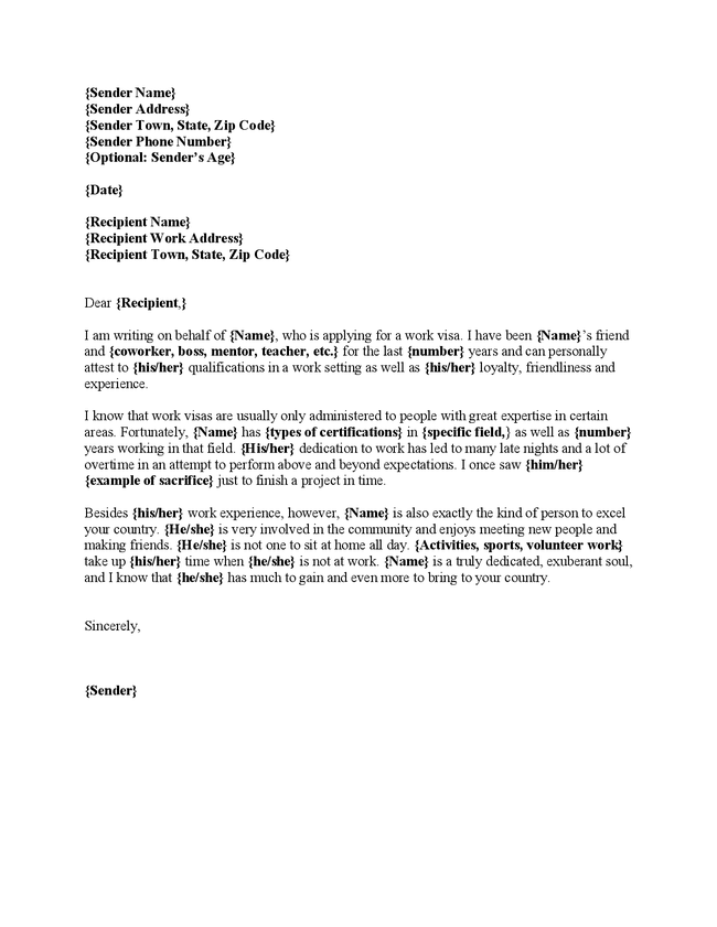 Court Character Reference Letter