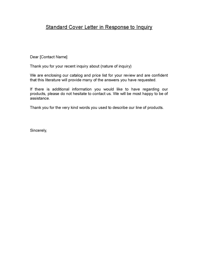standard cover letter phrases covering letter example