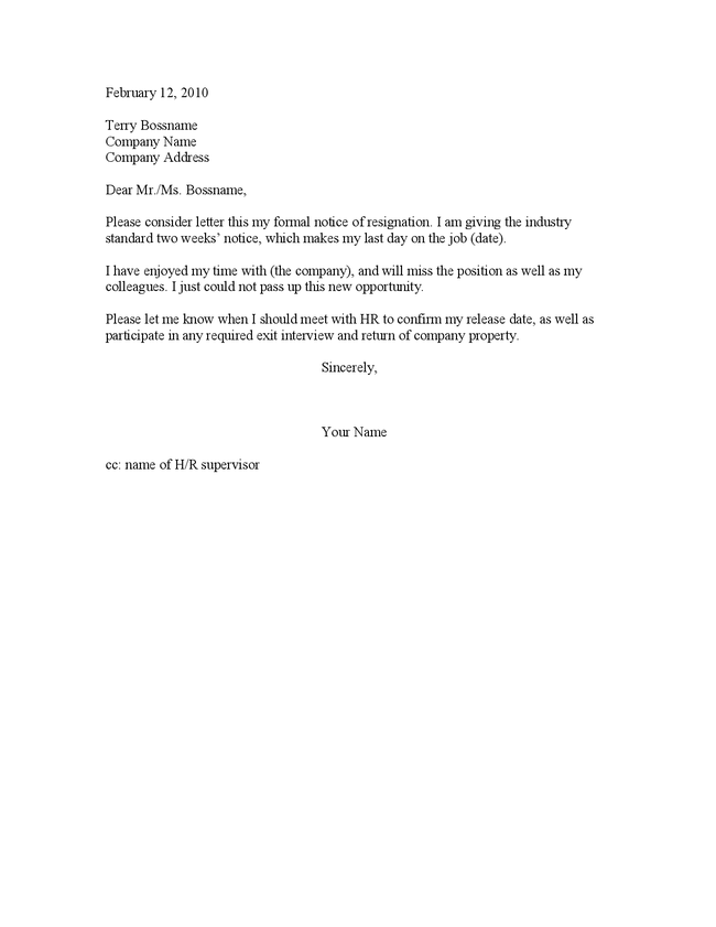 1 week notice resignation letter sample juve cenitdelacabrera co