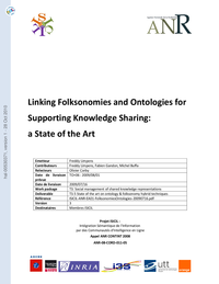 Linking Folksonomies and Ontologies for Supporting Knowledge Sharing:a State of the Art