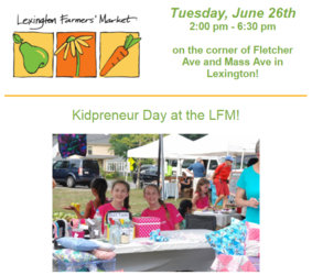 Kidpreneur Day at the Lexington Farmers' Market