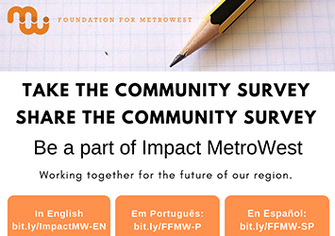 Your Opinions are Needed: Community Survey from Foundation for MetroWest