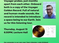 Voyager Golden Record Listening Tour