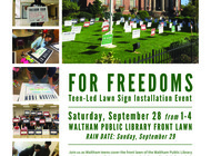 For Freedoms Teen-Led Lawn Sign Party