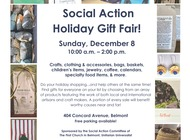 Social Action Holiday Gift Fair