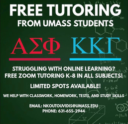 Free tutoring from Umass Amherst students