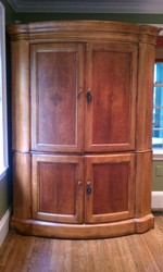Elegant Romweber Bowfront Armoire For Sale