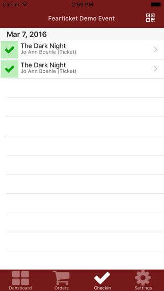 FearTicket iOS App