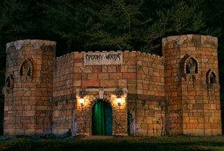 North Carolina Haunted House castle prop