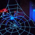 Glowing giant spider at Dark Realms