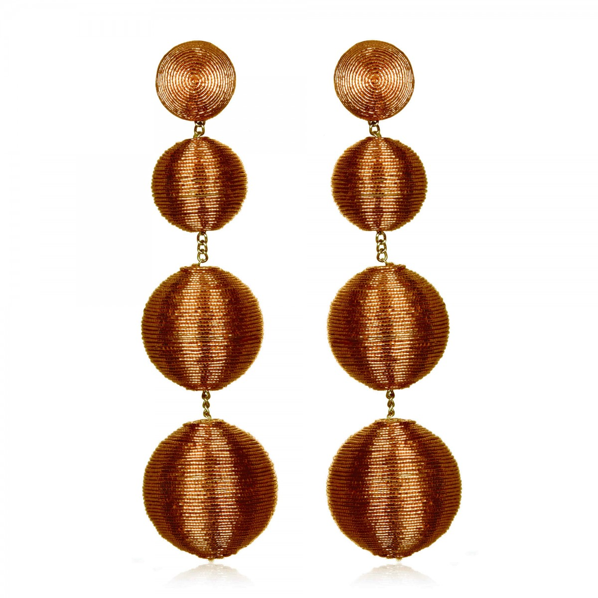 Bronze Gumball Earrings by SUZANNA DAI