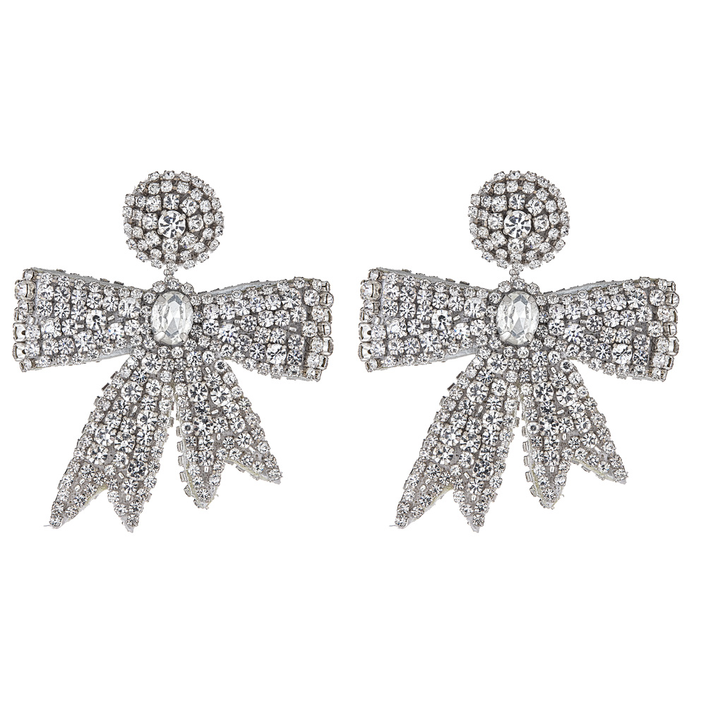 Mini Crystal Bow Earrings  by FRENCH AND FORD