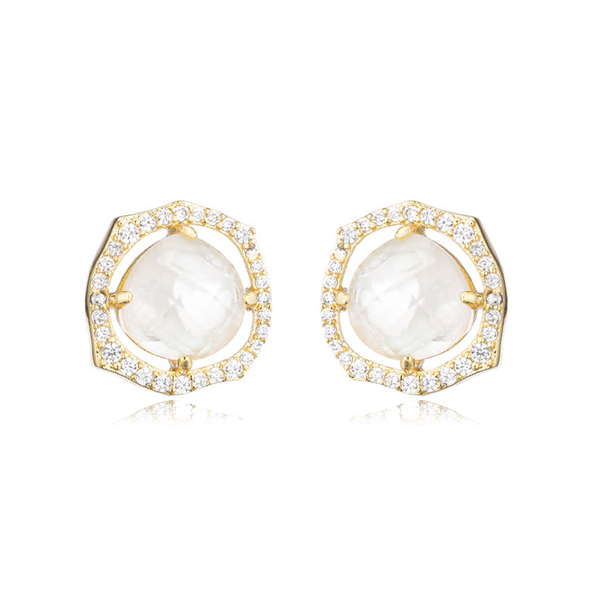 Mother of Pearl Stud Earrings by MARCIA MORAN