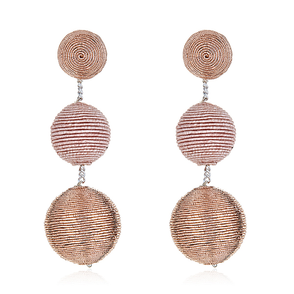 3 Gumball Blush BonBon Earrings by SUZANNA DAI