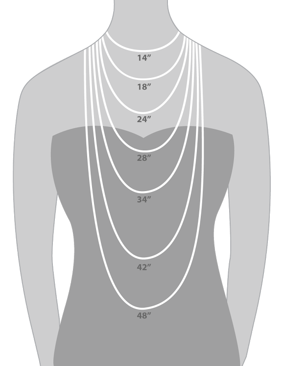 How to choose the right necklace length hauteheadquarters necklace lengths aloadofball