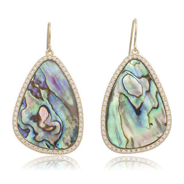 Abalone Paddle Earrings by MARCIA MORAN