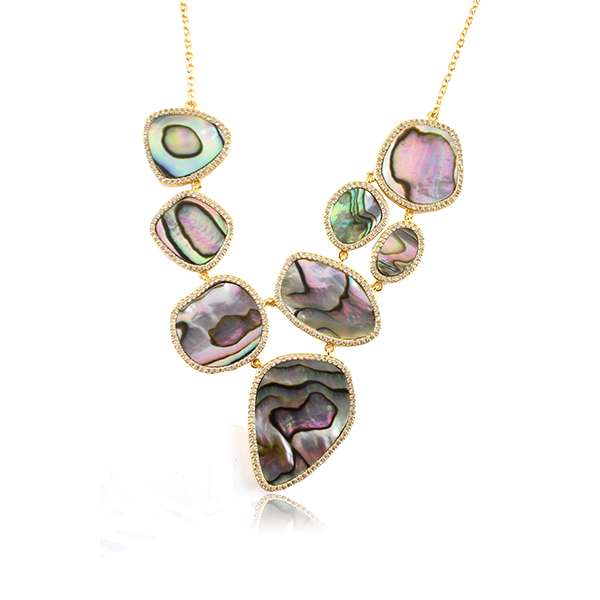 Abalone Statement Necklace by MARCIA MORAN