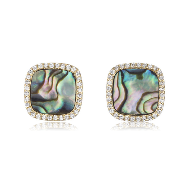 Abalone Stud Earrings by MARCIA MORAN