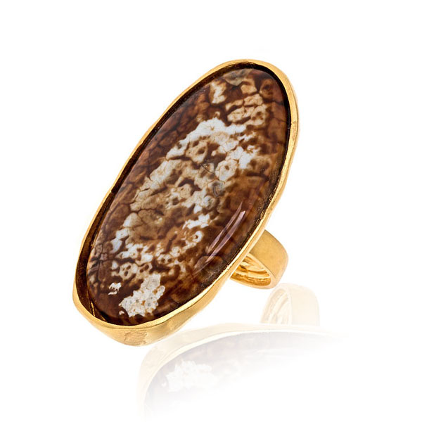 Oversized Agate Ring by KENNETH JAY LANE