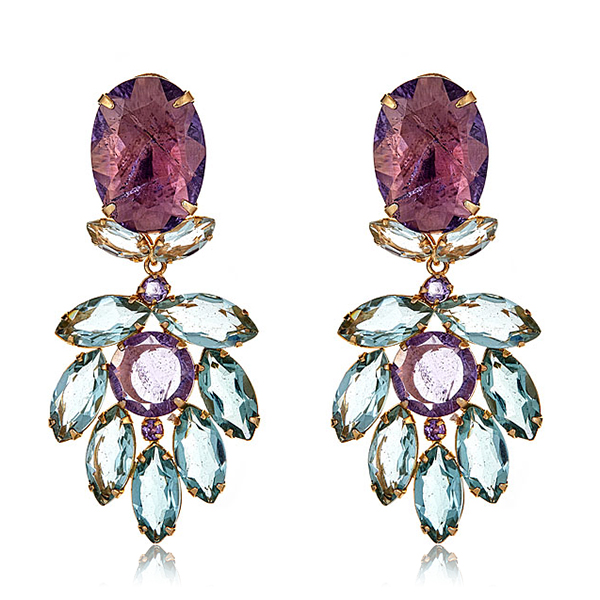 Amethyst Chandelier Earrings by BOUNKIT