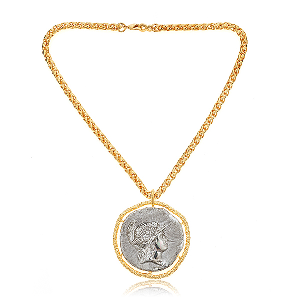 Antique Coin Necklace by KENNETH JAY LANE