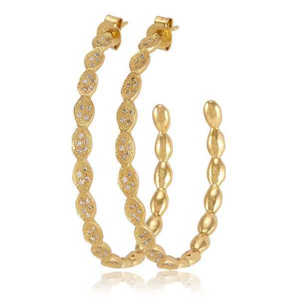 Ashley Pod Hoop Earrings by MELINDA MARIA