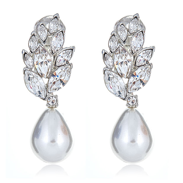 Audrey Pearl Teardrop Earrings by KENNETH JAY LANE