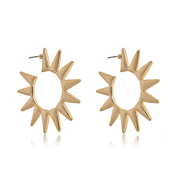 Spike Hoop Earrings by KENNETH JAY LANE