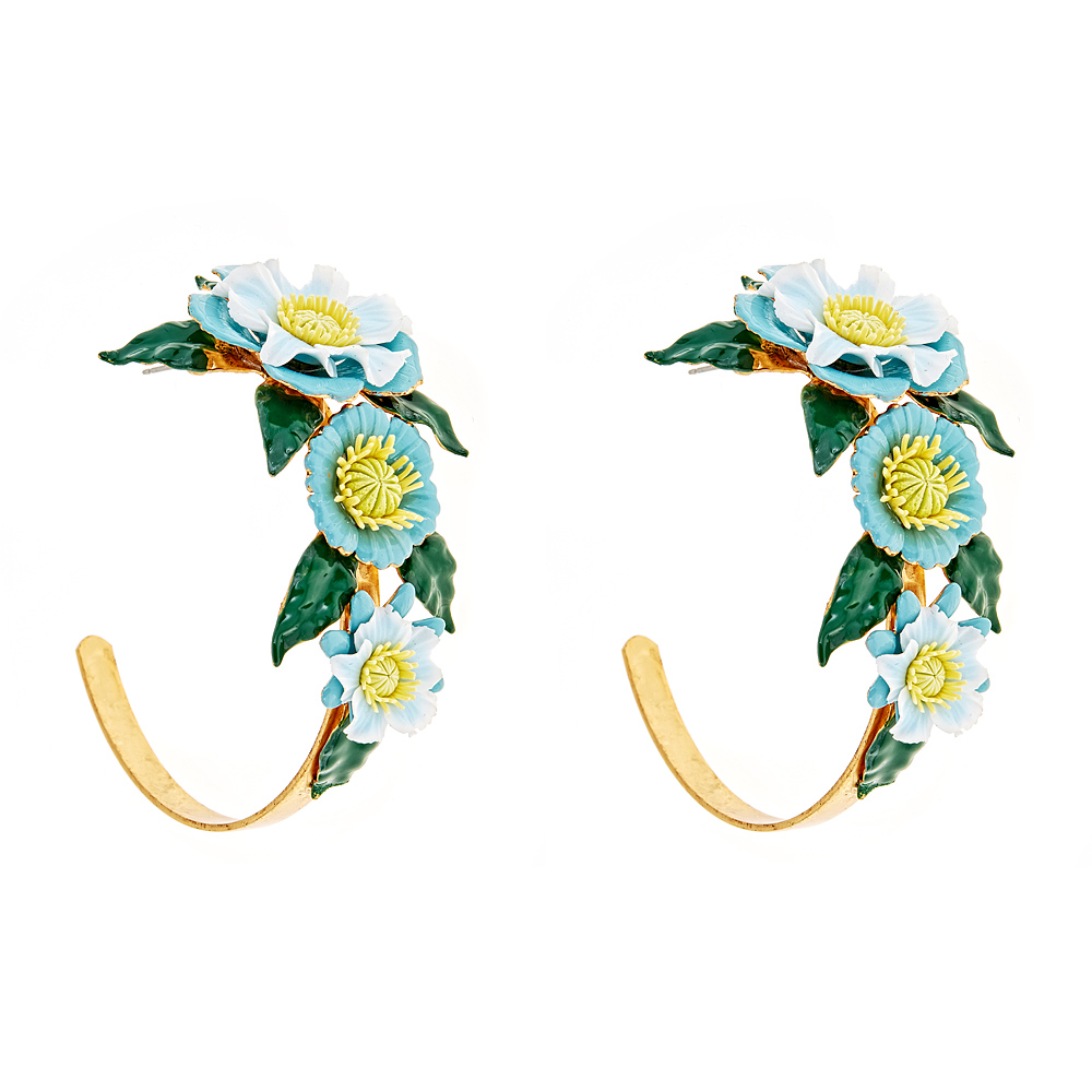 Axel Flower Hoops by ELIZABETH COLE