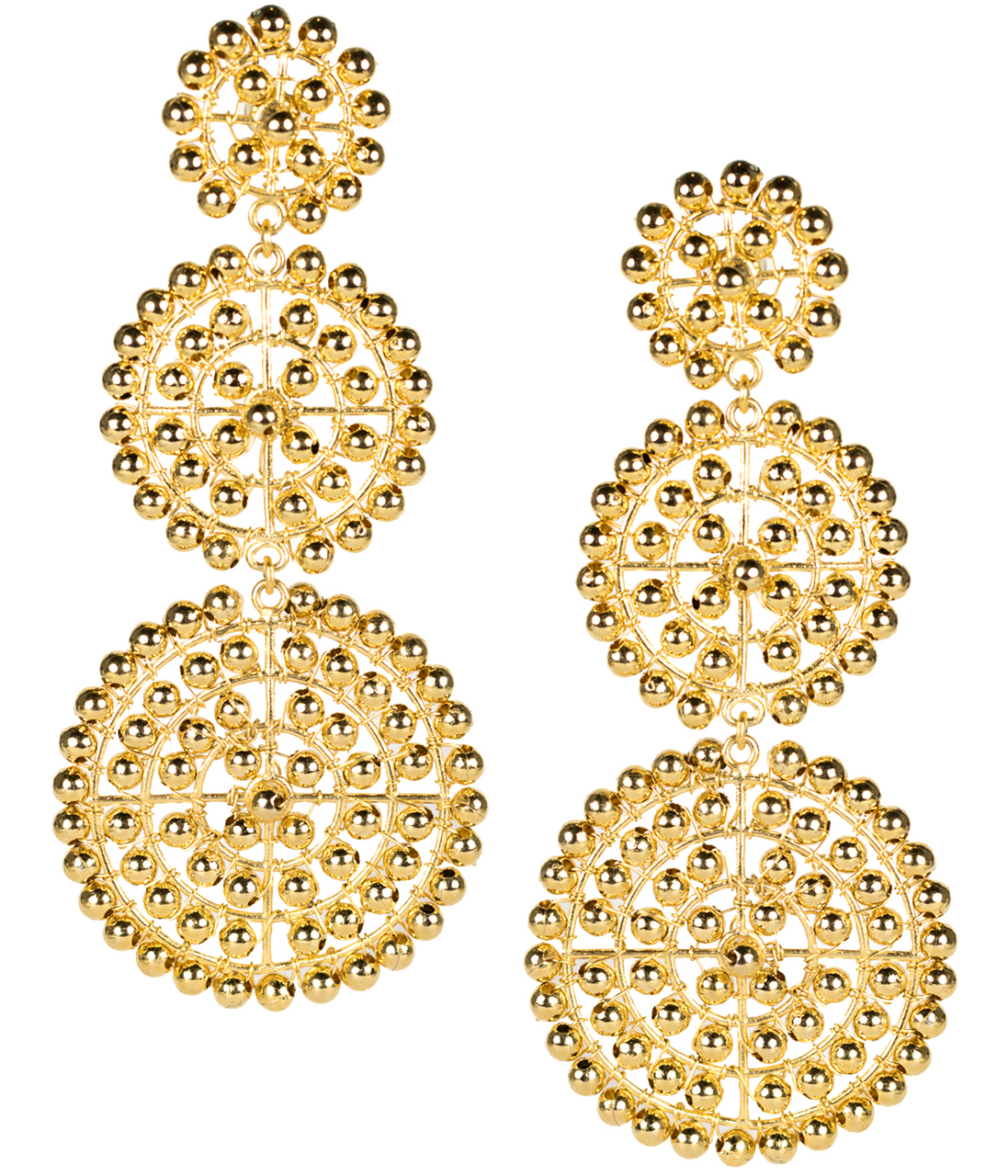 Beaded Gold Greta Earrings