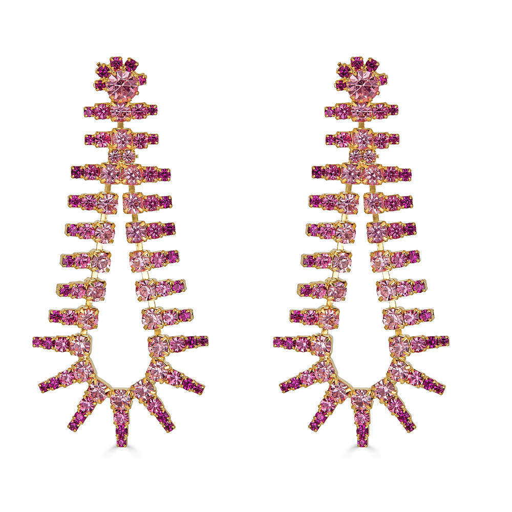 Beatrix Pink Earrings by ELIZABETH COLE