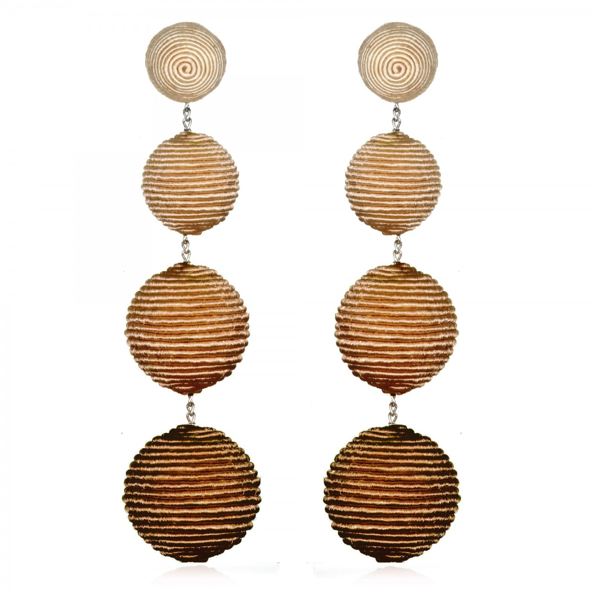 Beige Ombre Bon Bon Earrings by SUZANNA DAI