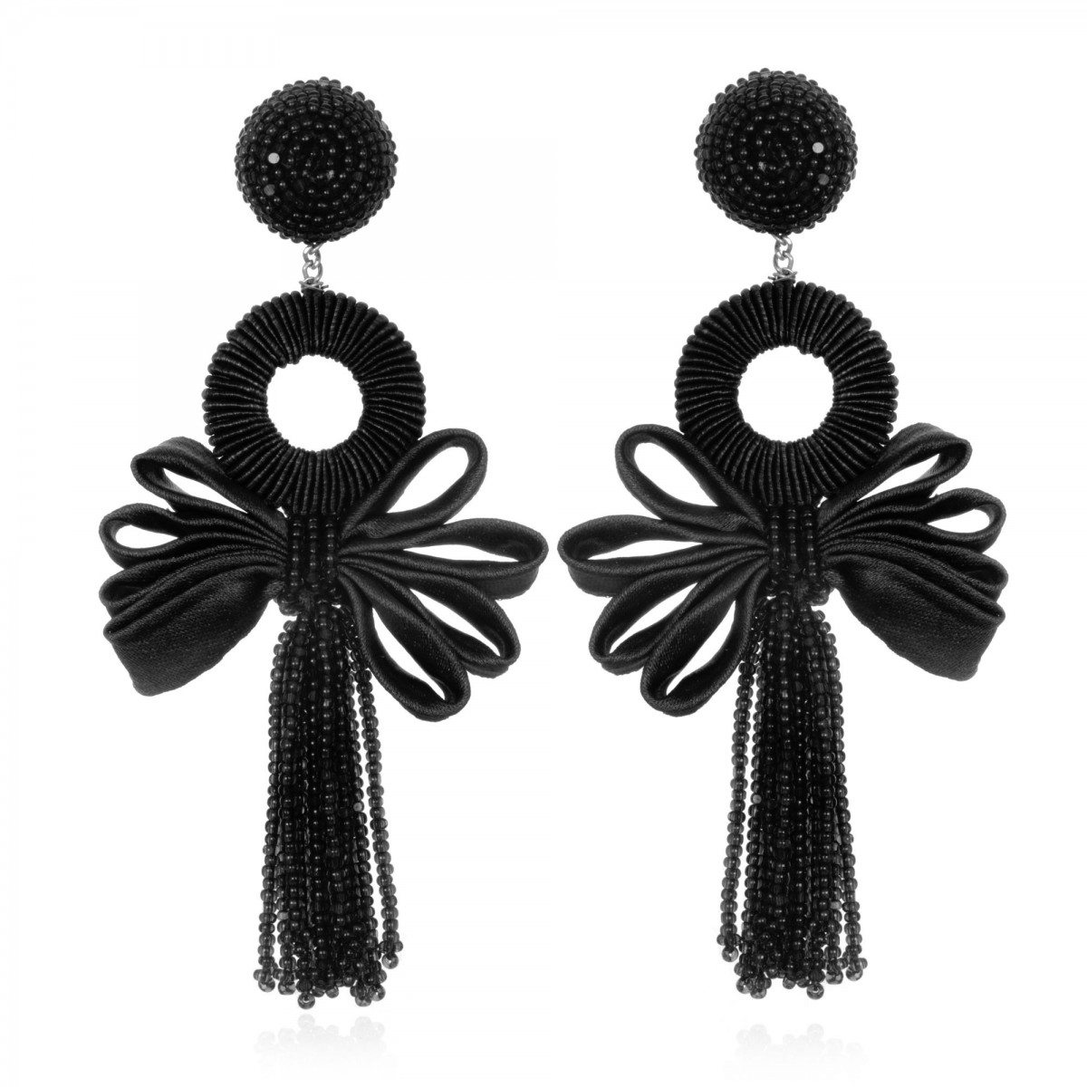 Beijing Black Bow Earrings by SUZANNA DAI