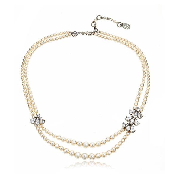 Ben-Amun Double Pearl Necklace by BEN-AMUN