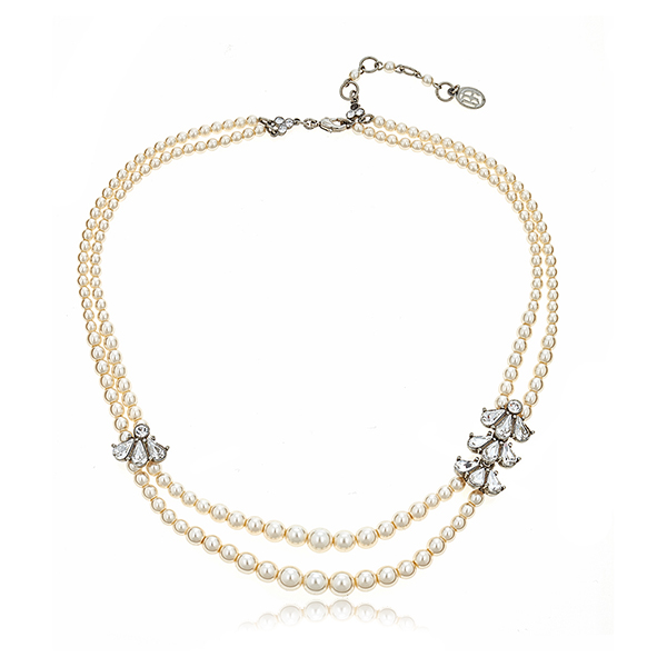 Ben-Amun Double Pearl Necklace by BEN-AMUN