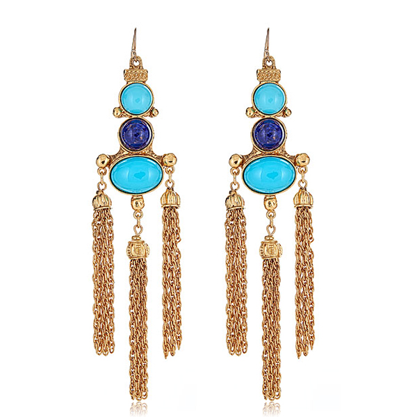 Ben Amun Turquoise Earrings by BEN-AMUN