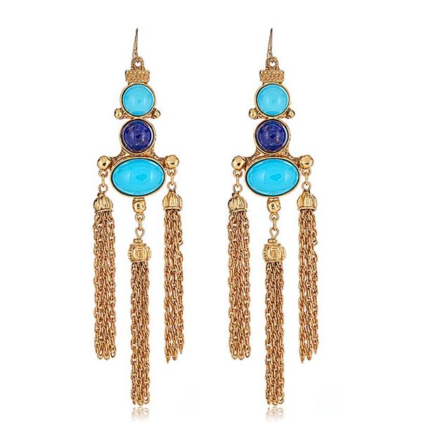 Ben Amun Turquoise Earrings by BEN-AMUN