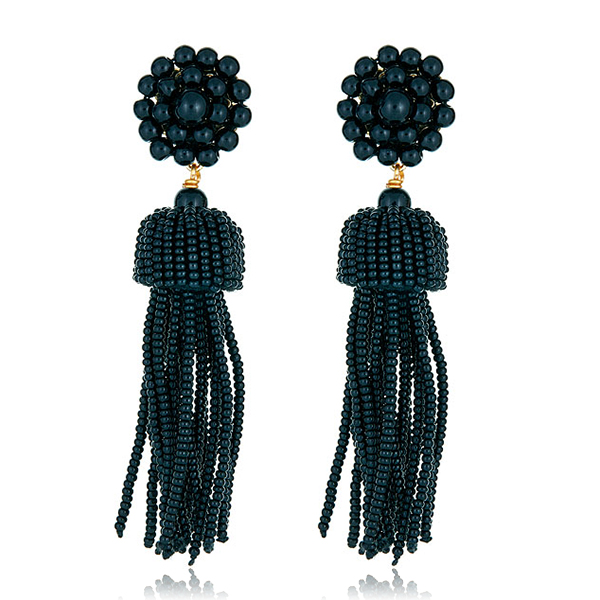 Lisi  Black Tassel Earrings by LISI LERCH