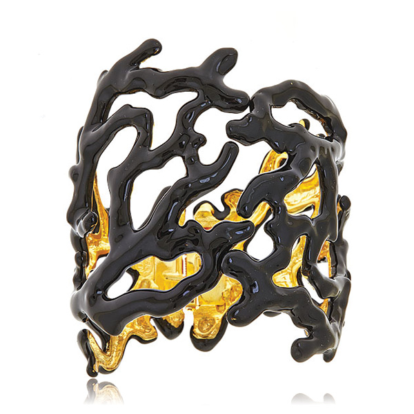 Black Branch Cuff Bracelet by KENNETH JAY LANE