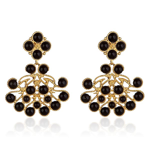Noir Chandelier Earrings by KENNETH JAY LANE