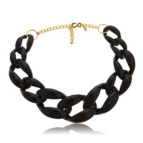 Black Link Necklace by KENNETH JAY LANE
