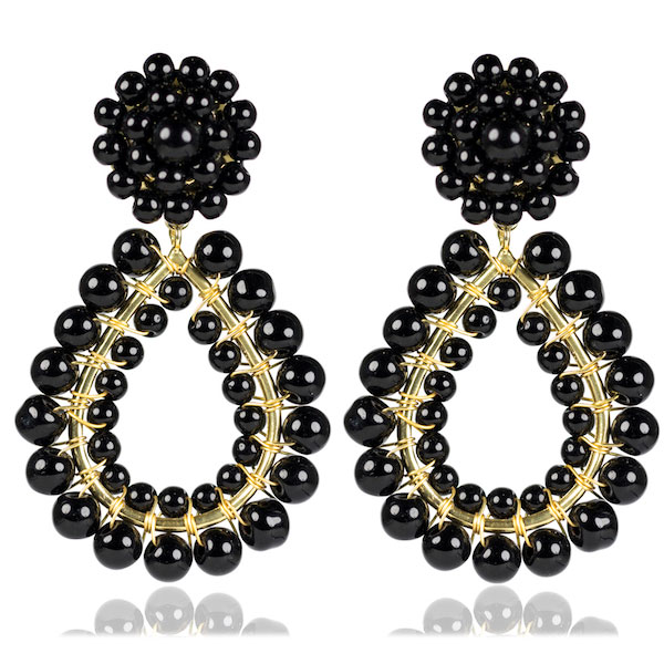 Black Margo Earrings by LISI LERCH