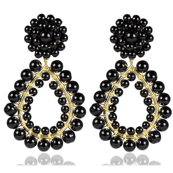 Black Margo Earrings by LISI LERCH