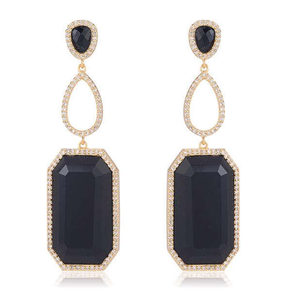 Black Onyx Drop Earrings by MARCIA MORAN