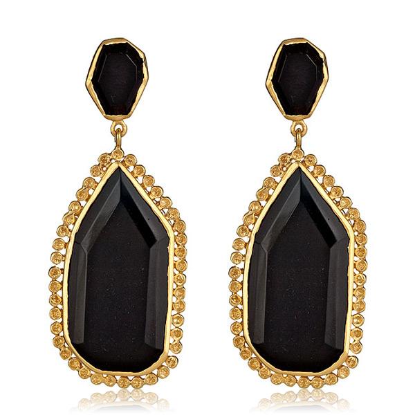 Black Pod Earrings by Melinda Maria