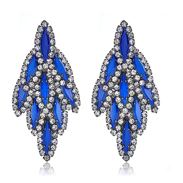 Blue Bacall Earrings by ELIZABETH COLE