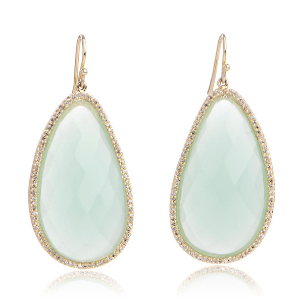 Blue Chalcedony Earrings by MARCIA MORAN
