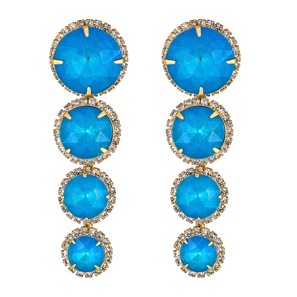 Blue Curtis Drop Earrings by ELIZABETH COLE